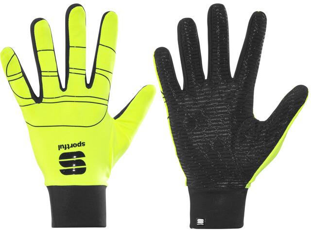 Sportful Lycra Race Gloves yellow fluo/black
